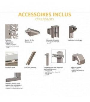 Les accessoires de pose inclus avec votre portail coulissant aluminium