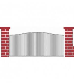 Portail PVC coulissant Cerny