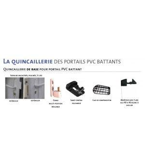 Portail PVC battant semi-plein à lames horizontales Balma