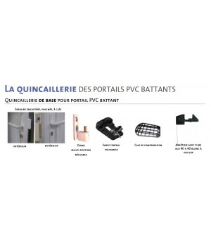 Portail en PVC ajouré 2 vantaux MIMET