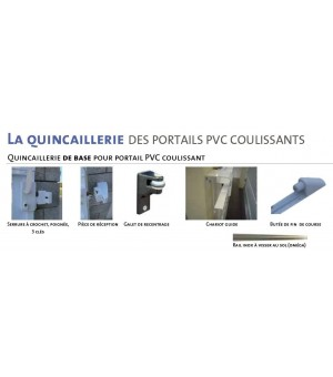 Portail PVC coulissant Linas