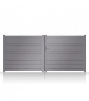 Portail aluminium Brou