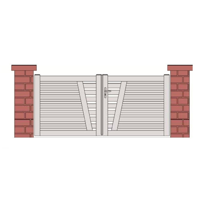 Portail design PVC ajouré SAUMUR