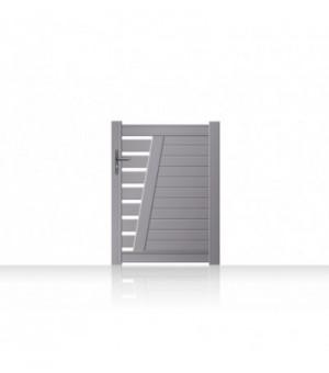 Portillon en aluminium design ajouré avec montant incliné