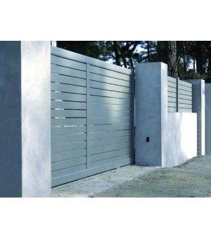 Portail aluminium coulissant Aix