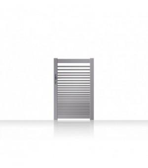 Portillon aluminium ajouré avec des intervalles différents pour laisser circuler le vent et la lumière