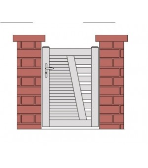 portillon 1 vantail design SAUMUR PVC