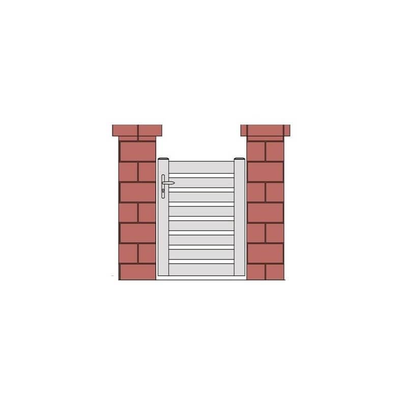 Portillon ajouré à lisses horizontales PVC BALMA