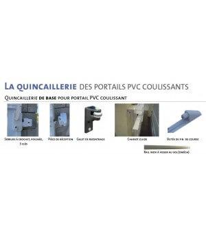 Portail PVC coulissant plein à lames verticales Massy