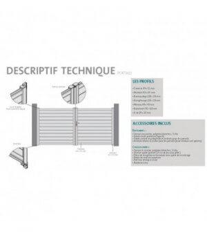 Coulissant PVC aspect 2 vantaux barreaudé MASSY