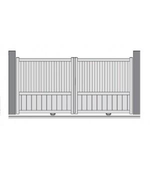portail semi-plein PVC coulissant PANTIN