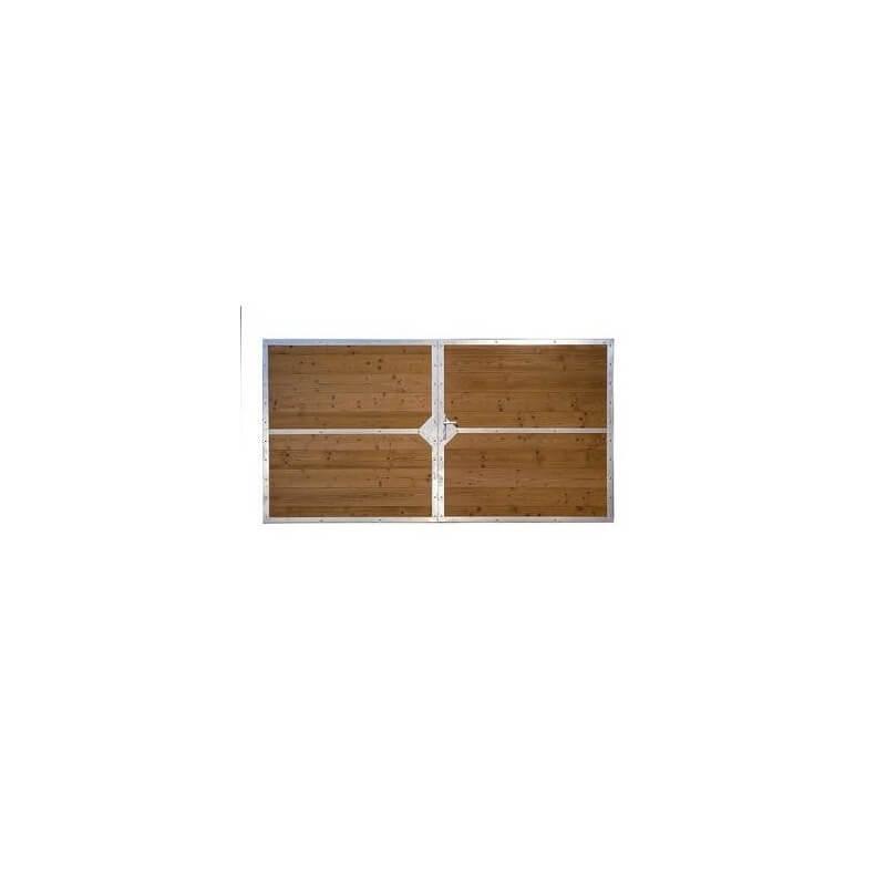 Portail bois FREJUS mixe entre acier et bois