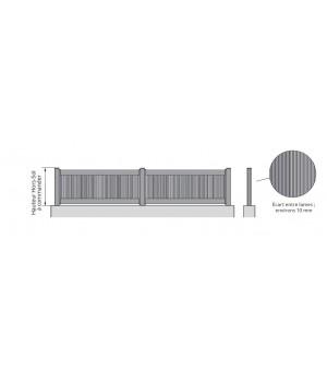 Clôture aluminium Cabourg