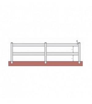 Clôture PVC à lisses horizontalestout ajourée