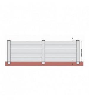 Clôture PVC ajourée sur mesure à lames horizontales