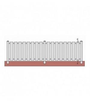 Clôture en PVC barreaudéeà la verticale et ajourée