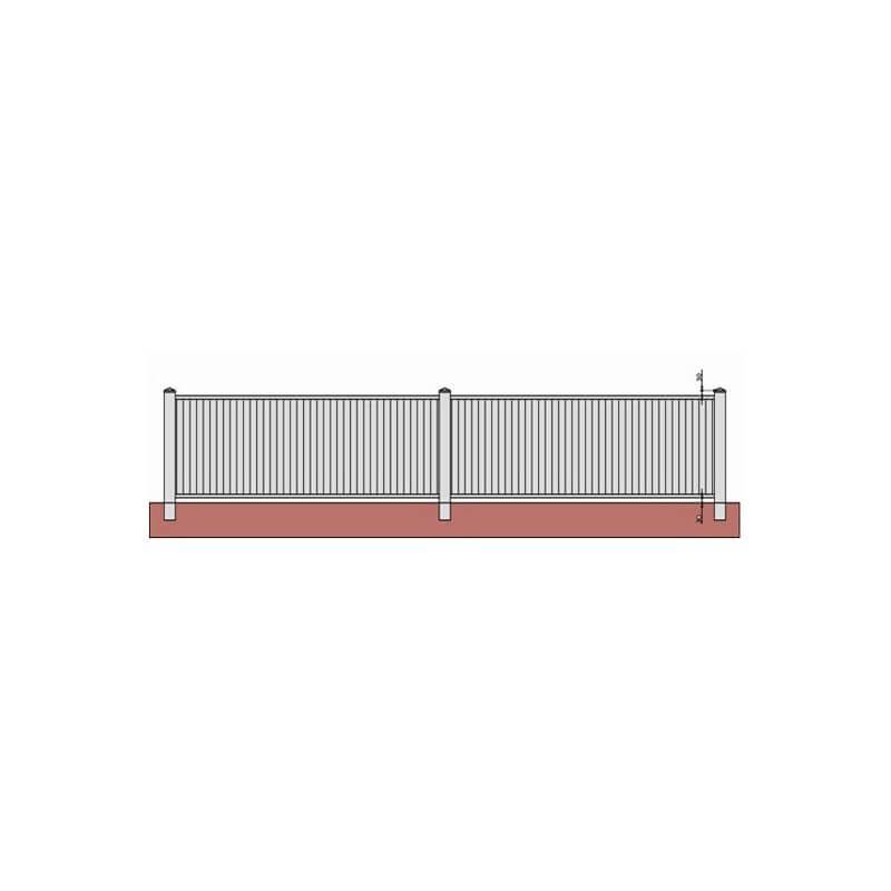 Clôture PVC pleine à lambris vertical sur mesure