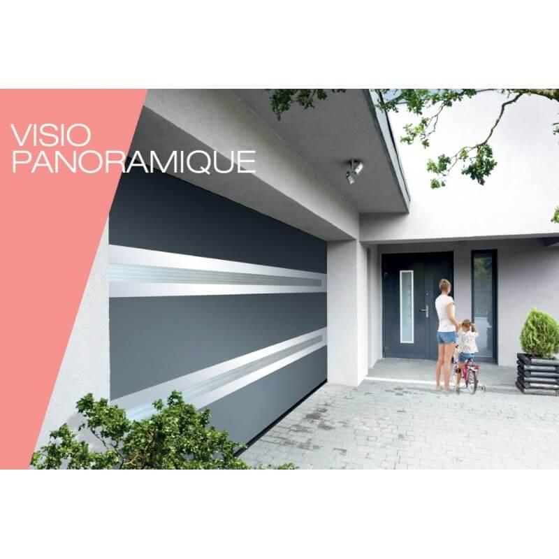 Porte sectionnelle visiopanoramique