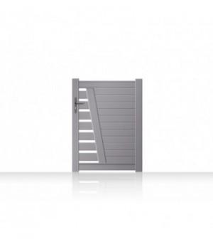 Portillon de jardin aluminium design semi-ajouré