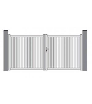 Portail PVC cadre intégré barreaudé MASSY