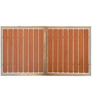 Portail battant bois ajouré à lames verticales