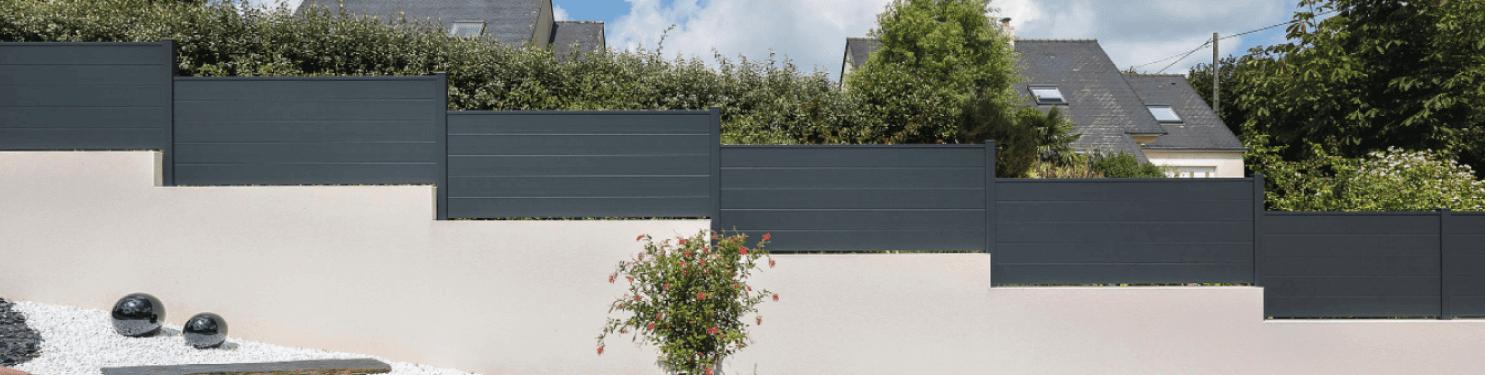 Clôture aluminium moderne sur mesure | LMC Ouvertures