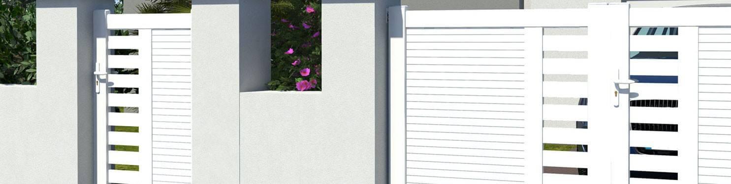 Portillon PVC sur mesure   LMC Ouvertures
