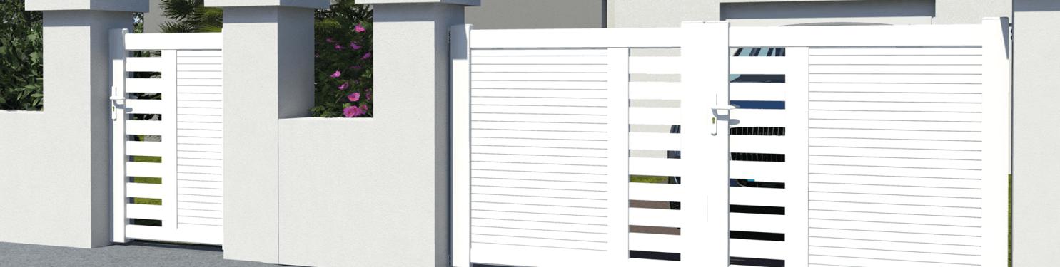 Portillon PVC design sur mesure | LMC Ouvertures