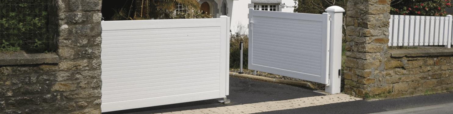 Portail PVC battant sur mesure | LMC Ouvertures