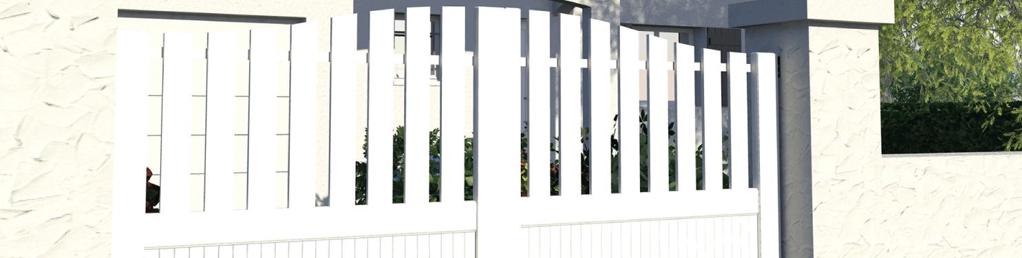 Portail PVC coulissant traditionnel sur mesure | LMC Ouvertures