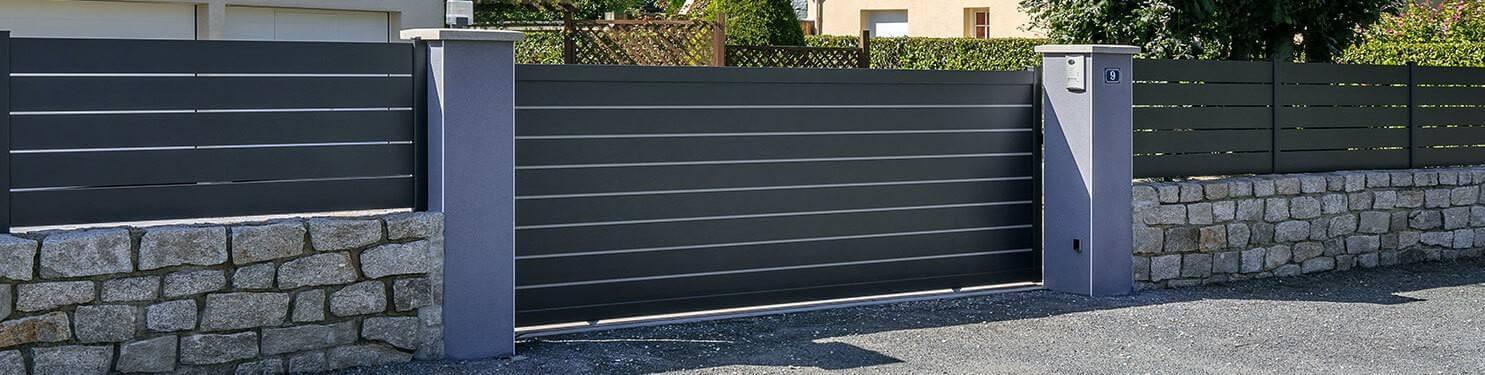 Portail aluminium coulissant sur mesure | LMC Ouvertures